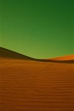 Preview iPhone wallpaper Desert, green background