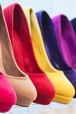 Different colors heels