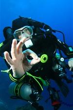 Дайвинг, Человек, Подводный, Море