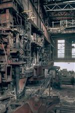 Fábrica, poeira, máquina