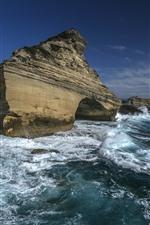 Preview iPhone wallpaper France, Corsica, Mediterranean Sea, rocks