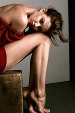 iPhone壁紙のプレビュー 女の子、モデル、足、フォトシュート