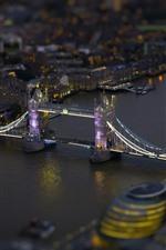 London, bridge, river, night, lights, England