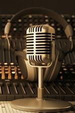 Vorschau des iPhone Hintergrundbilder Mikrofon, Retro, Audio, Mixer