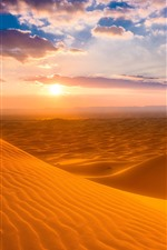 Preview iPhone wallpaper Morocco, desert, sunset, sky, clouds