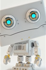 Preview iPhone wallpaper Robot, 3D design picture