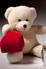 Preview iPhone wallpaper Teddy bear and gift