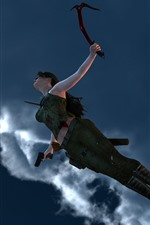 Aperçu iPhone fond d'écranTomb Raider, Lara Croft, sautant
