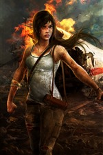 Raider Tumb, Ilha, Plano, Crash, Lara Croft, Fogo