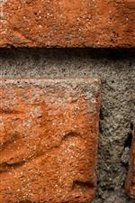 Preview iPhone wallpaper Wall, bricks macro photography, texture