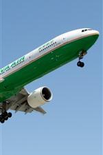 Boeing avião de passageiros, pouso, céu