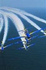 Brasil, Aeronaves, Fumaça, Mar, Show Air