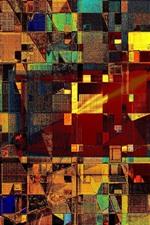 Colorido, forma, projeto abstrato