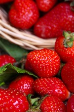Preview iPhone wallpaper Fresh berries, red strawberries, delicious fruit