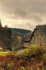 iPhone обои Германия, Деревья, Дома, Деревня, Осень