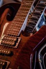 Preview iPhone wallpaper Guitar macro photography, music