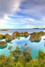 Preview iPhone wallpaper Indonesia, West Papua, yachts, sea, islands