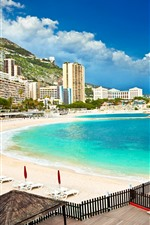 Preview iPhone wallpaper Monaco, Palma, mountains, beach, sea, buildings