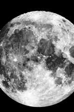 Preview iPhone wallpaper Moon, surface, space, black background