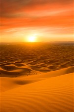 Preview iPhone wallpaper Morocco, desert, sunset, red sky