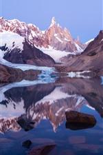 Aperçu iPhone fond d'écranPatagonie, Argentine, lac, neige, montagnes, parc national de Los Glaciaux