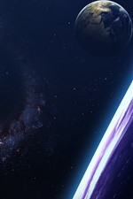 Preview iPhone wallpaper Stars, earth, galaxy, shine, space