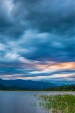 預覽iPhone桌布 不列顛哥倫比亞省,落基山脈,河流,雲彩,加拿大