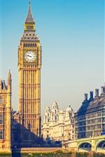 Cidade, Londres, Big Ben, Ponte, Rio, Inglaterra
