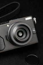 Fujifilm x70 câmera, fundo preto