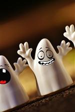 iPhone обои Хэллоуин, призрак, творческий дизайн