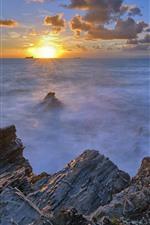 Отель Marinella, море, побережье, закат