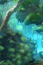 Preview iPhone wallpaper Jungle, trees, path, vector design