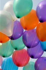 Preview iPhone wallpaper Many colorful balloon