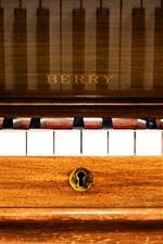 Preview iPhone wallpaper Piano, music, keys, macro photography