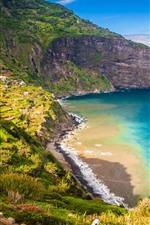 Португалия, Мадейра, горы, пляж, море, побережье, дорога