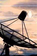 Preview iPhone wallpaper Radio telescope, antenna, digital, creative picture