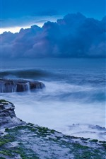 Preview iPhone wallpaper Storm, sea, clouds, coast