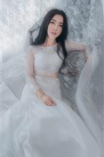 Preview iPhone wallpaper White skirt girl, bride, Asian girl