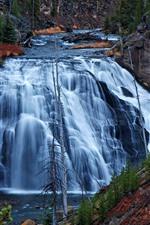 Йеллоустонский национальный парк, США, водопад
