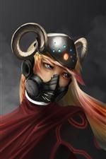 Vorschau des iPhone Hintergrundbilder Anime blonde Mädchen, Maske, Helm