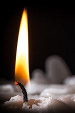 Preview iPhone wallpaper Candle, fire, flame, smoke