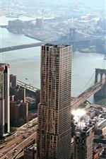 Chicago, pont de Manhattan, gratte-ciel, rivière, ville, États-Unis