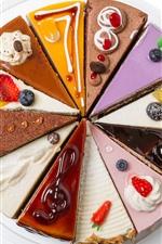 Vorschau des iPhone Hintergrundbilder Köstliche Kuchen, bunte Kuchenscheibe