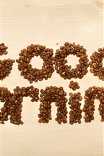 Preview iPhone wallpaper Good Morning, coffee beans