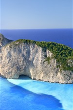 Preview iPhone wallpaper Greece, Zakynthos, Ionian sea, shipwreck, beach, island