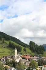 Aperçu iPhone fond d'écranItalie, Bolzano, ville, montagnes, arbres