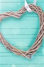 Preview iPhone wallpaper Love heart, light blue background