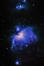Aperçu iPhone fond d'écranNébuleuse, espace, étoiles, univers