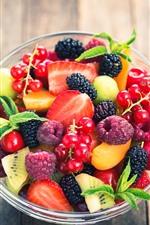 iPhone обои Одна миска ягод, клубника, смородина, ежевики, фрукты