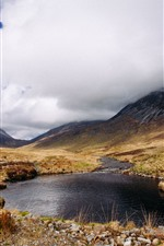 Preview iPhone wallpaper Scotland, lake, clouds, mountains